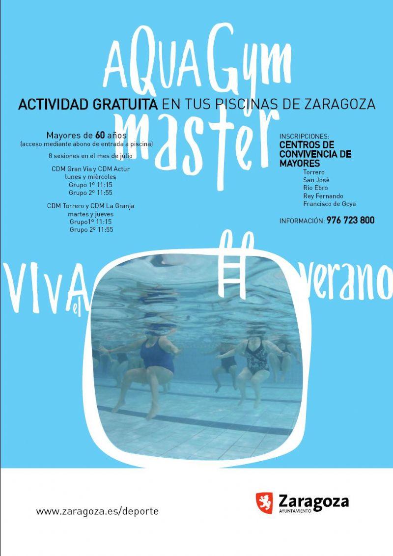 Clases gratuitas de gimnasia acuática («AQUAGYM») para personas mayores en las piscinas municipales de verano