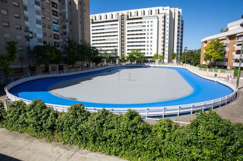 Renovada la pista del patinódromo «La Bozada»