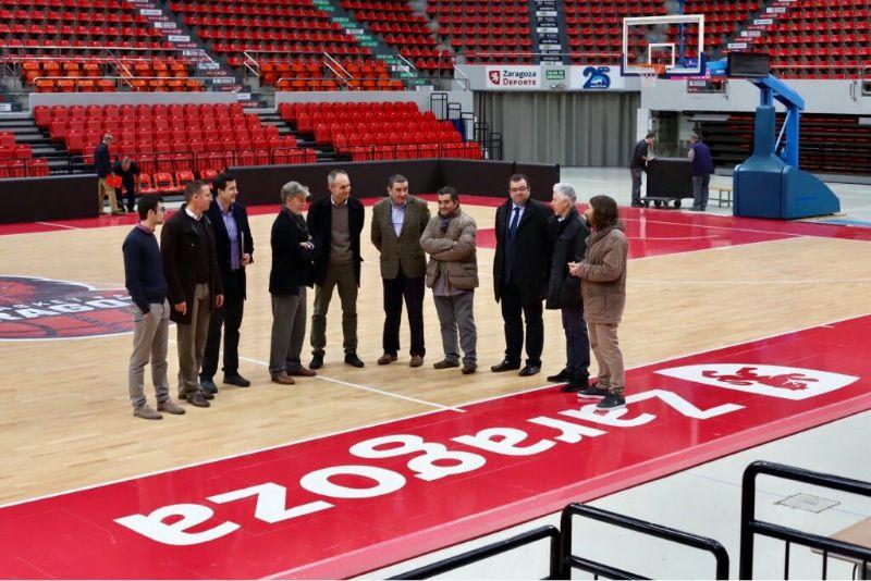 El alcalde recibe a la delegación de la UEFA para cerrar los preparativos de la Final Four de fútbol sala