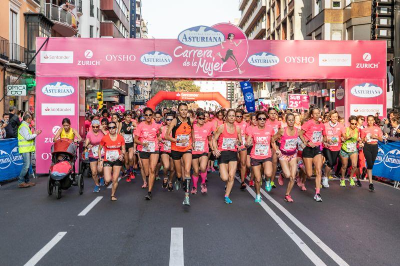 11.000 mujeres compusieron ayer la Marea Rosa de la Carrera de la Mujer de Zaragoza