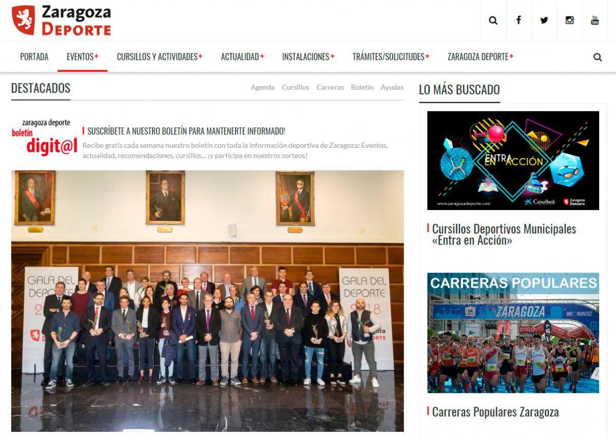 Zaragoza Deporte estrena nueva web con un formato más visual e interactivo