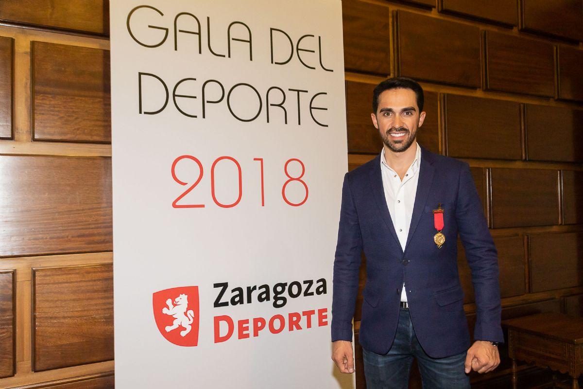 Alberto Contador, Medalla al Mérito Deportivo Ciudad de Zaragoza 2018