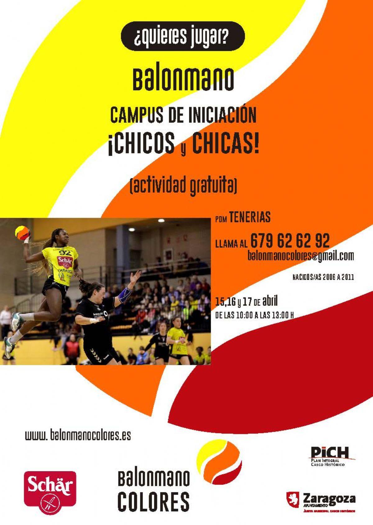 Campus gratuito de iniciación al Balonmano para chicos y chicas
