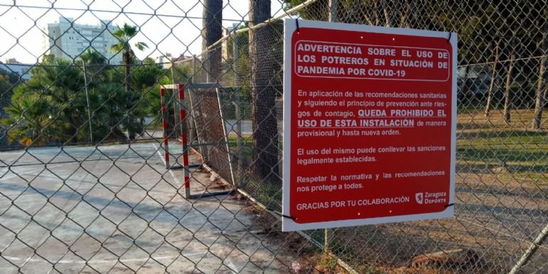 Zaragoza Deporte recuerda que sigue prohibido el uso de las Instalaciones Deportivas Elementales (potreros) y solicita reforzar la vigilancia