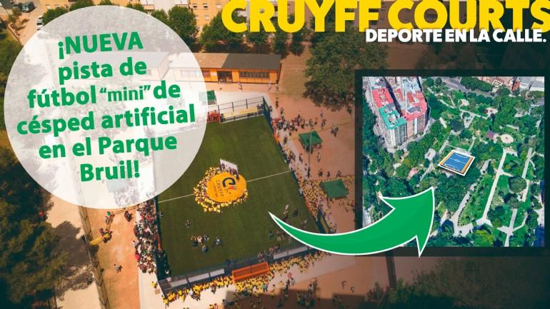 El parque Bruil estrenará una moderna pista de fútbol «mini» con césped artificial