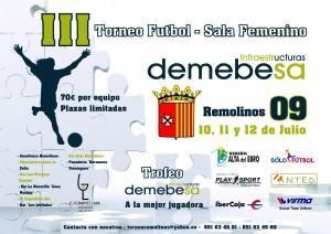 El III Torneo de Fútbol Sala Femenino Remolinos presenta novedades