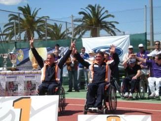 Buena actuación de los tenistas de CAI Deporte Adaptado en Valencia