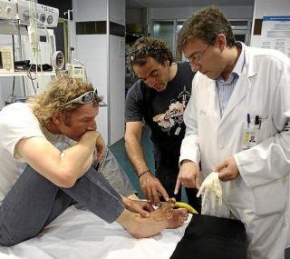 Carlos Pauner y Javier Pérez pasaron ayer revisión en el Clínico tras regresar el viernes del Manaslu