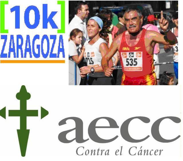 III 10K Zaragoza: marea solidaria, corriendo contra el cáncer, tus piernas nos ayudan a seguir ganando la carrera de la vida.
