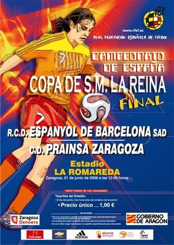 Prainsa Zaragoza y Espanyol lucharán por la Copa de la Reina en La Romareda