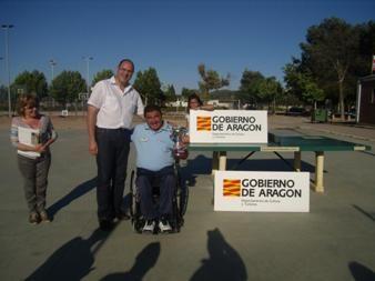 Carlos Pina se proclama vencedor del V Campeonato de Aragón de tenis en silla de ruedas