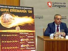 La selección española de baloncesto disputará un triangular en Zaragoza del 25 al 27 de agosto