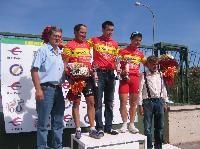 José Luis Rodrigo, Martín Pena y Chema Arguedas, campeones de España de ciclismo para periodistas