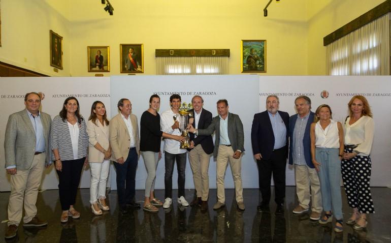 Zaragoza homenajea al futbolista zaragozano Jesús Vallejo tras ganar la Eurocopa Sub 21 con la Selección Española