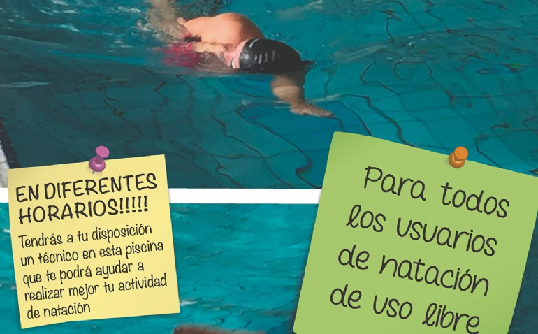 Mejora tu técnica de natación de manera gratuita en varias piscinas cubiertas municipales