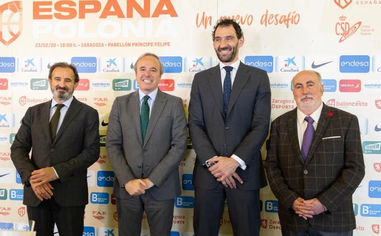 Zaragoza se prepara para recibir a la selección española de baloncesto el 23 de febrero
