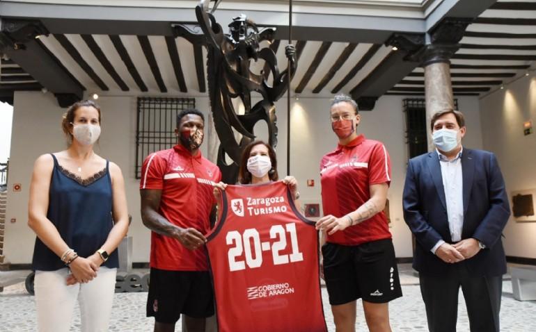 El Ayuntamiento firma un contrato de patrocinio con Basket Zaragoza para promocionar la ciudad en Europa
