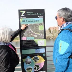 Zaragoza Deporte estrena la señalización del programa ZaragozAnda, con 22 rutas senderistas en el entorno periurbano