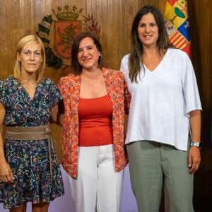 Recepción a la zaragozana Ana Belén Fernández, campeona de Europa de judo