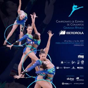 Más de mil gimnastas se dan cita en Zaragoza para disputar el Campeonato de España de rítmica