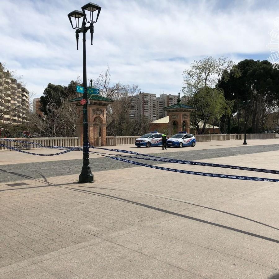 Todos los parques públicos de Zaragoza cierran desde hoy como medida adicional de precaución en la lucha contra el coronavirus