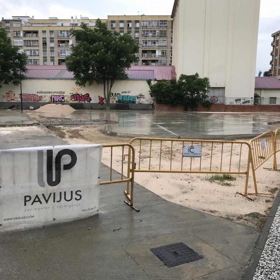 Comienzan las obras para la mejora de la pista de baloncesto y patinaje en Santa Isabel