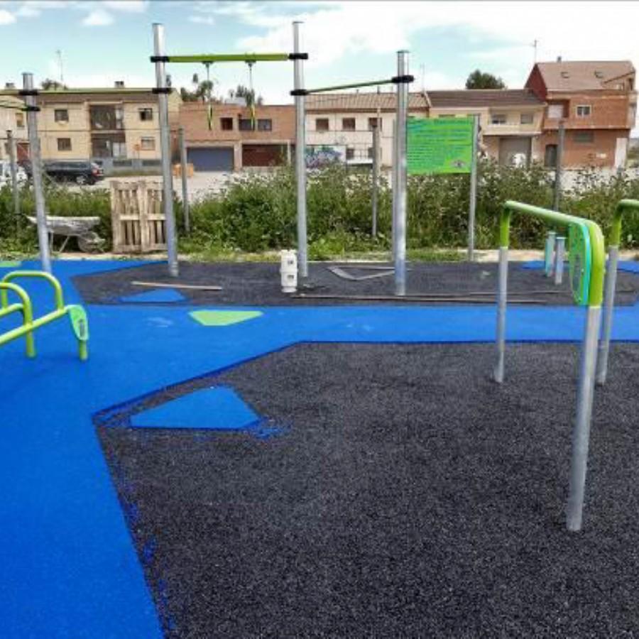 Fase final de las obras del «Street Workout» de Movera