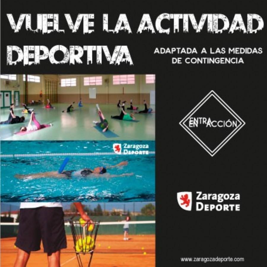 Zaragoza Deporte reanuda los cursillos de gimnasia, natación, tenis y patinaje de velocidad