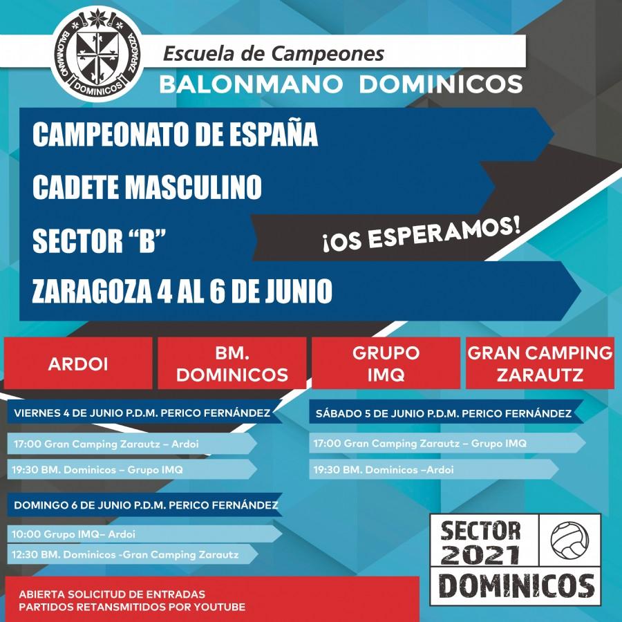 El mejor balonmano cadete de España compite en el CDM Perico Fernández (antiguo Salduba) por una plaza en la final a ocho