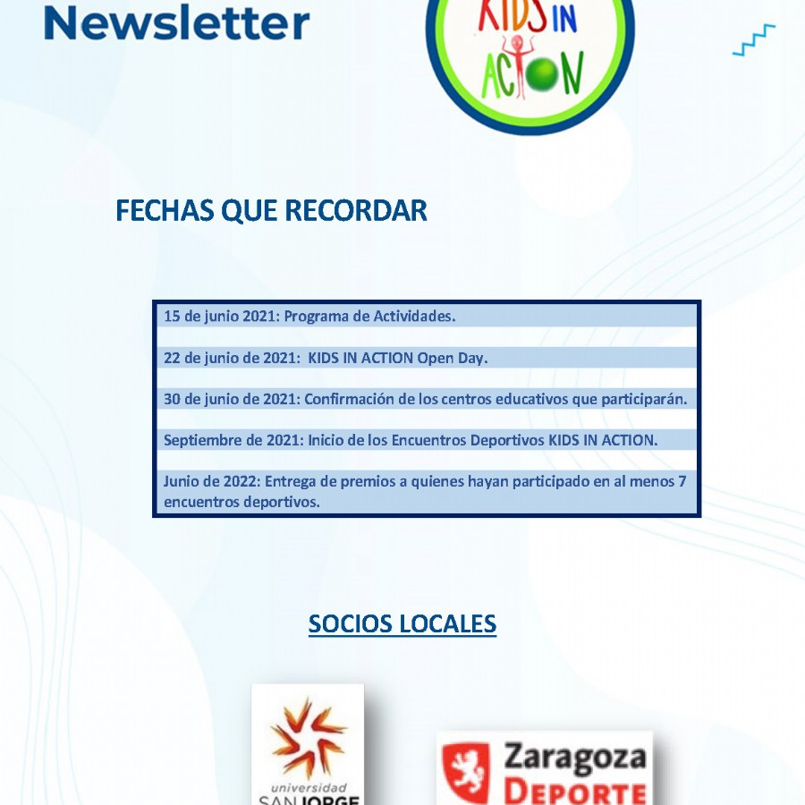 Newsletter #2 del Proyecto «Kids in Action» Mayo 2021