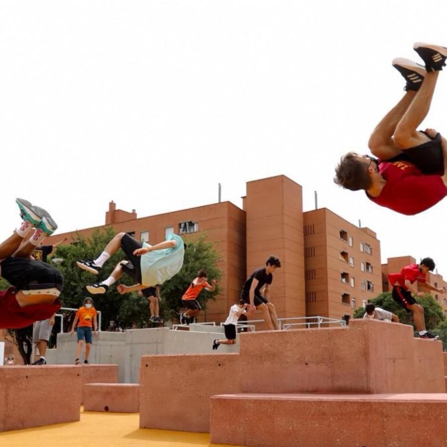 Zaragoza estrena su primera pista de parkour situada en el barrio del Actur