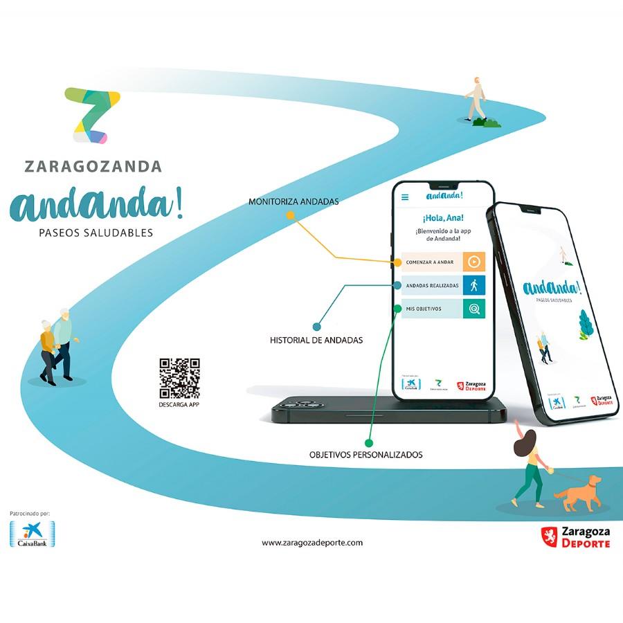 Zaragoza Deporte lanza la nueva app Andanda! para fomentar el ejercicio físico a través de una acción tan cotidiana y saludable como es caminar
