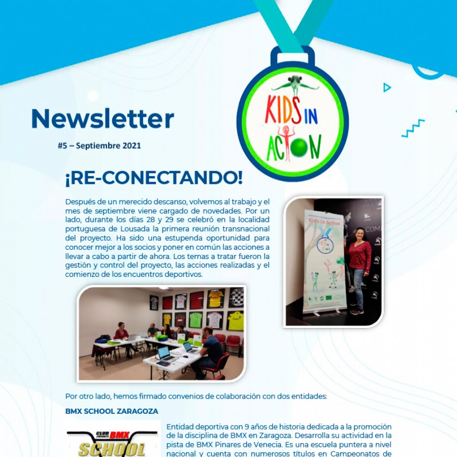 Newsletter #5 del Proyecto «Kids in Action» Septiembre 2021