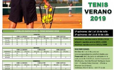 Cursillos de Tenis Verano 2019