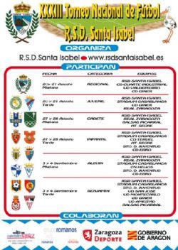 XXXIII Torneo Nacional de Fútbol «R. S. D. Santa Isabel». Categorías Cadete e Infantil