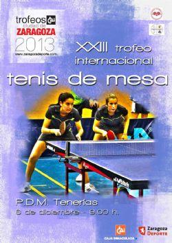 XXI Trofeo Internacional «CAI - Ciudad de Zaragoza» Tenis de Mesa