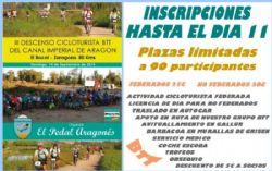 III Descenso Cicloturista BTT del Canal Imperial de Aragón