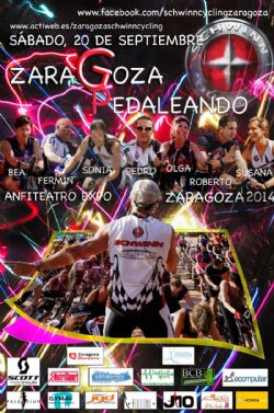 Maratón de Ciclismo Indoor: Schwinn Cycling Tour Zaragoza 2014