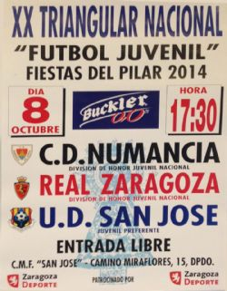 XX Triangular Nacional de Fútbol Juvenil «Fiestas del Pilar 2014»