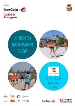 Continúa el III Trofeo «Ibercaja-Ciudad de Zaragoza» de Balonmano Playa
