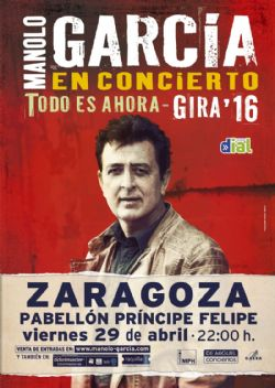 Concierto de Manolo García el viernes 29 de abril