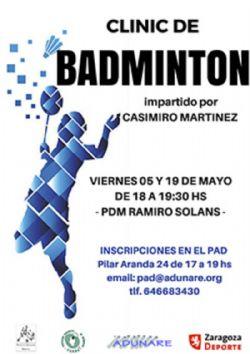 Este viernes, Clínic de Bádminton en el PDM Ramiro Solans (Oliver)