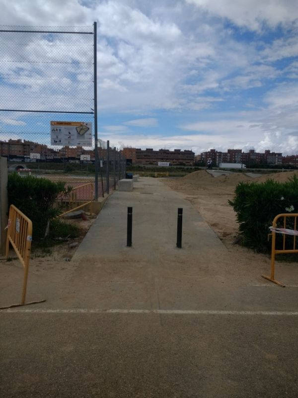 Instalación Deportiva Elemental «Pump Track» situada en el Parque Goya I.