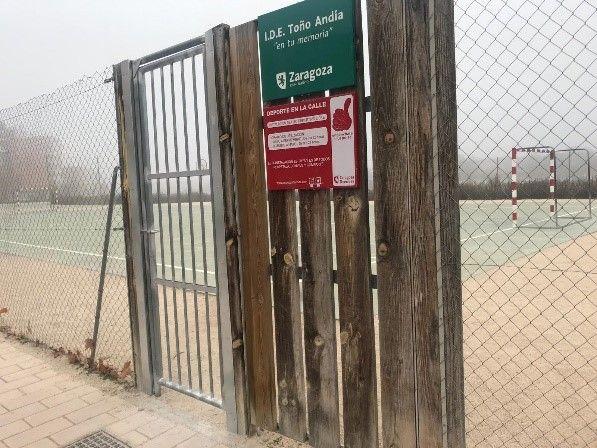 Acceso Instalación Deportiva Elemental Toño Andía