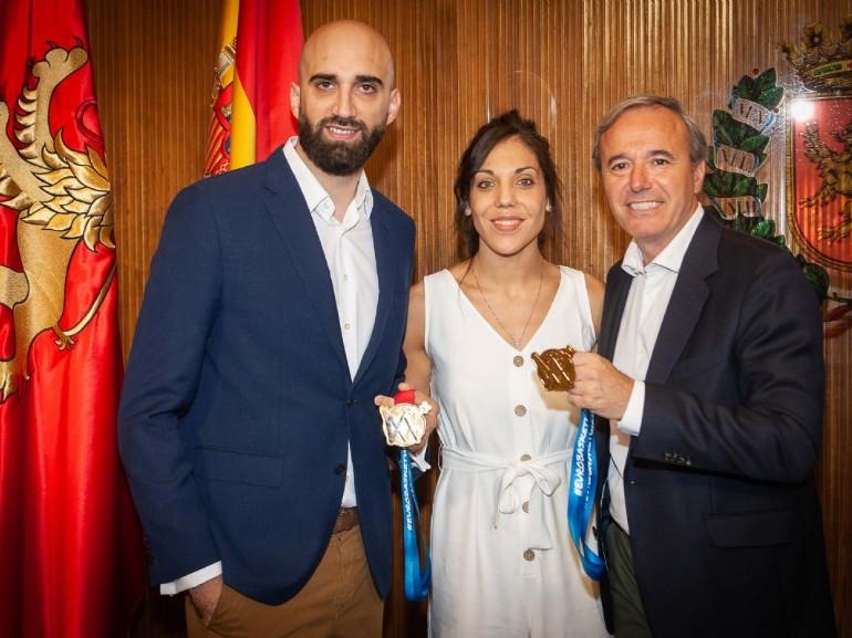 El Ayuntamiento felicita a Cristina Ouviña, campeona de Europa de baloncesto