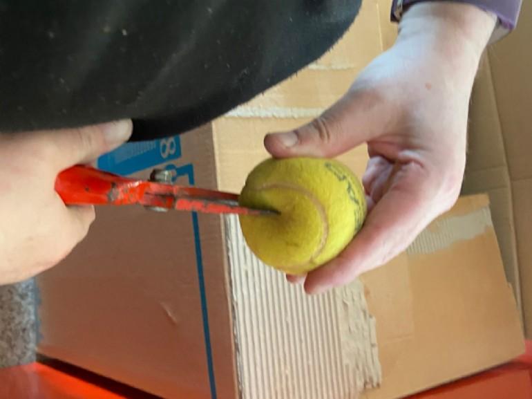 Reciclaje de pelotas de tenis CEIP Eugenio López y López