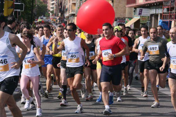Las liebres (globos rojos) marcan los ritmos de carrera, tu eliges 40, 45 ,50 y 60 minutos...