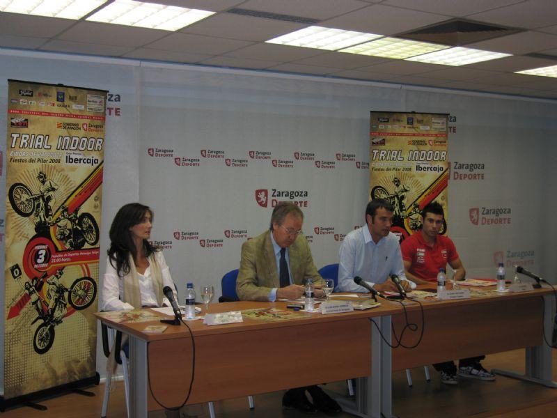 29/09/2008 Rueda de Prensa del «XIX Trial Indoor Gran Premio Ibercaja»