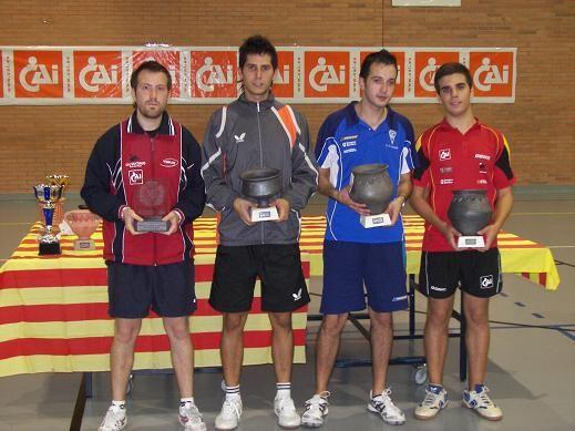 Podium. Contreras, Monzó, Toledo y Luño