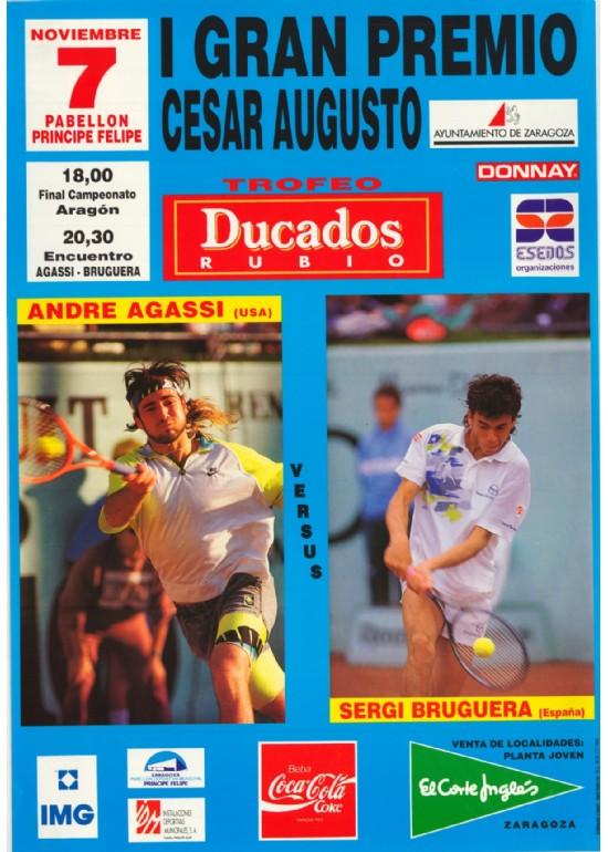 "7 noviembre 1991 I GRAN PREMIO ""CESARAUGUSTO""  AGASI-BRUGUERA DE TENIS"